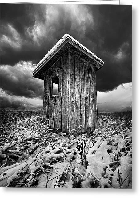 Geographic Greeting Cards - The Guard House Greeting Card by Phil Koch