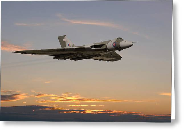 Vulcan Greeting Cards - The Guardian Greeting Card by Pat Speirs