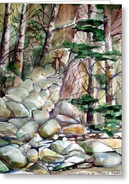 Birch Tree Drawings Greeting Cards - The Guardians Greeting Card by Mindy Newman