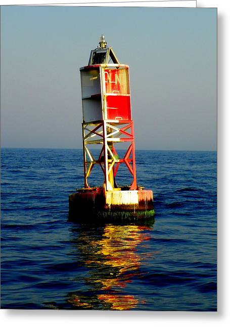 Wrightsville Beach Greeting Cards - The Guiding Light Greeting Card by Karen Wiles
