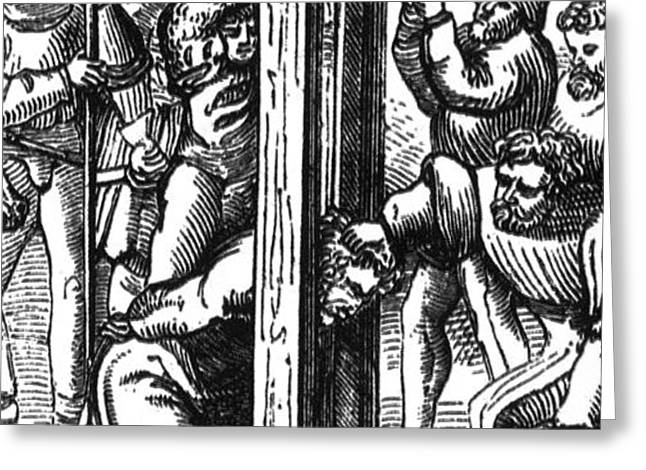 The Guillotine, 18th Century Greeting Card by Science Source
