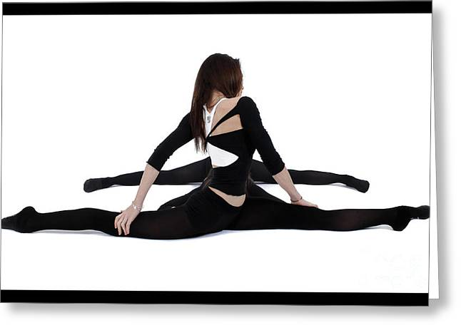 Pierre-jean Grouille Greeting Cards - The Gymnast Greeting Card by Pierre-jean Grouille