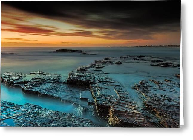 Seascape With Clouds Greeting Cards - The Hallows of Time Greeting Card by Mark Lucey