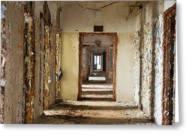 Best Sellers -  - Psychiatric Greeting Cards - The Hallway Greeting Card by Roni Chastain
