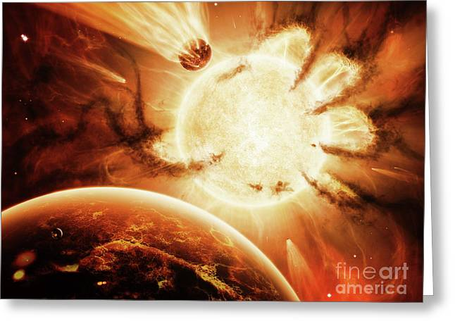Destiny Greeting Cards - The Hand Of Destiny Nebula Is Devouring Greeting Card by Brian Christensen