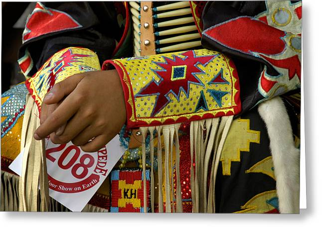 Fancy-dancer Greeting Cards - The hands of 208 Greeting Card by Angelito De Jesus