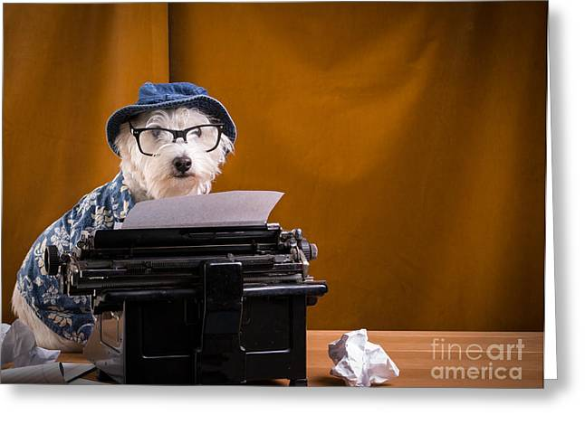 Author Greeting Cards - The Hard Boiled Journalist Greeting Card by Edward Fielding