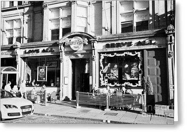 Hard Rock Cafe Greeting Cards - The Hard Rock Cafe George Street Edinburgh Scotland Uk United Kingdom Greeting Card by Joe Fox