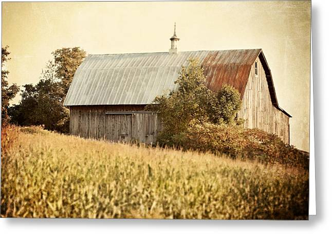 Pennsylvania Barns Greeting Cards - The Harvest Barn Greeting Card by Lisa Russo