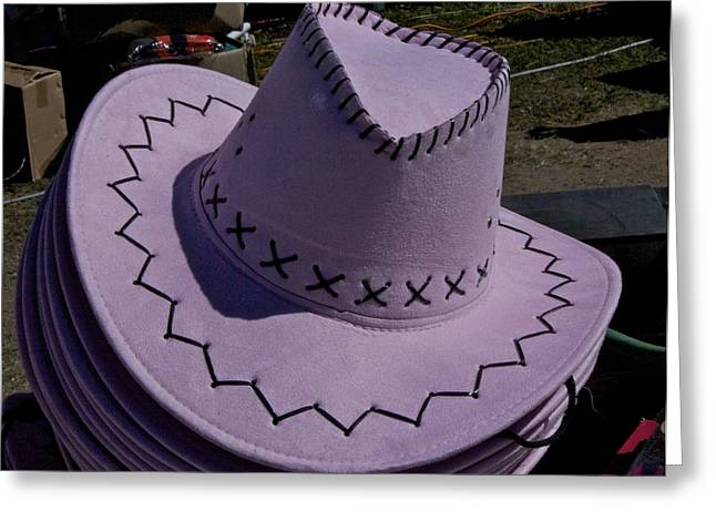 Hat Tapestries - Textiles Greeting Cards - The Hat Greeting Card by Michael Clarke JP