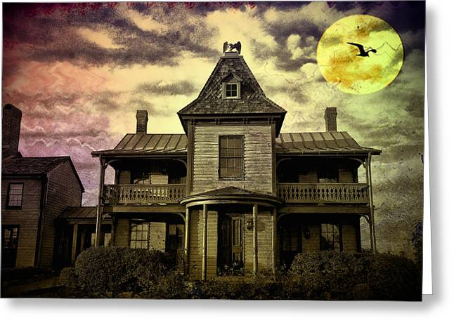 Haunted Digital Art Greeting Cards - The Haunted Mansion Greeting Card by Bill Cannon