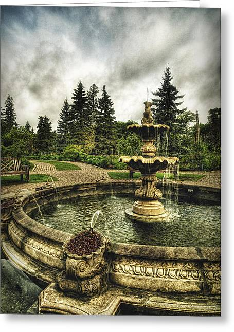 Flowing Fountain Greeting Cards - The Haunting Greeting Card by Stuart Deacon