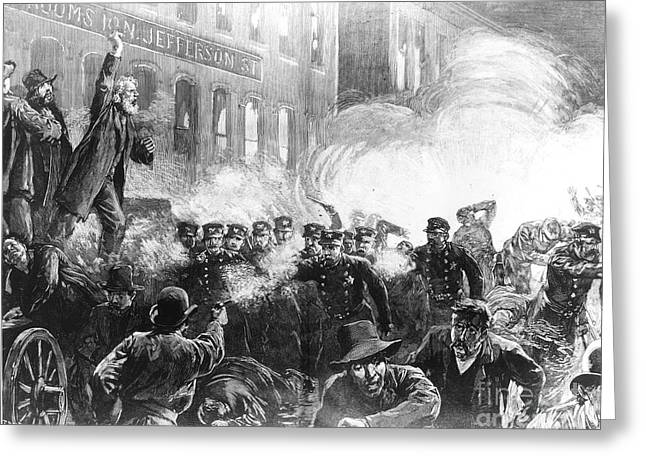 Union Square Greeting Cards - The Haymarket Riot, 1886 Greeting Card by Granger