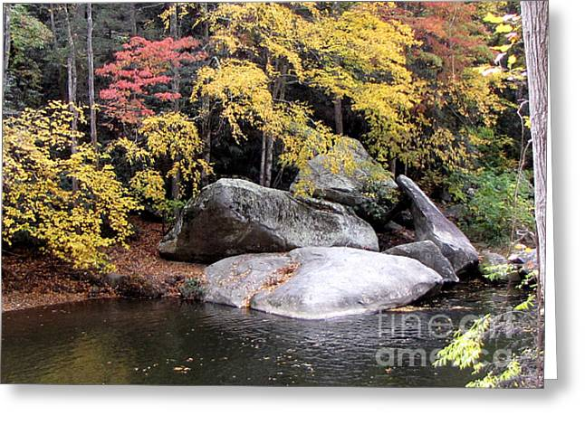 Babbling Greeting Cards - The Healing Rock Greeting Card by Pauline Ross