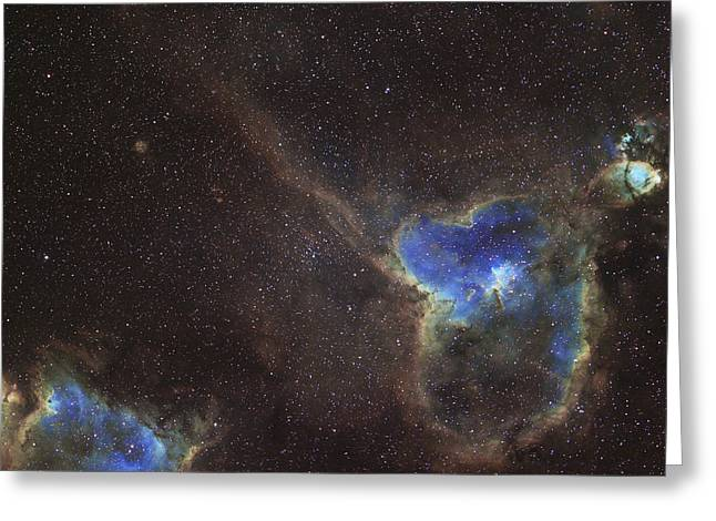 Interstellar Space Greeting Cards - The Heart And Soul Nebula Greeting Card by Phillip Jones