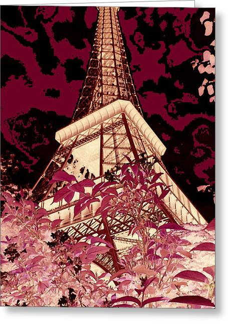 Eiffel Tower Mixed Media Greeting Cards - The Heart of Paris - Digital Painting Greeting Card by Carol Groenen