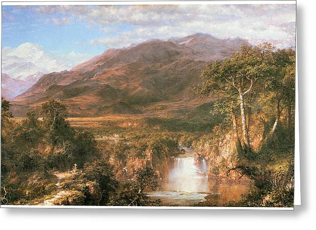 Church Painter Greeting Cards - The Heart of the Andes Greeting Card by Frederick Edwin Church
