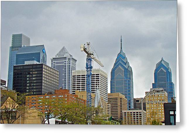 Phillie Photographs Greeting Cards - The Heart of the City - Philadelphia Pennsylvania Greeting Card by Mother Nature
