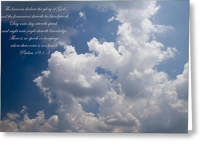 King James Version Greeting Cards - The Heavens Declare The Glory Of God Greeting Card by Kathy Clark