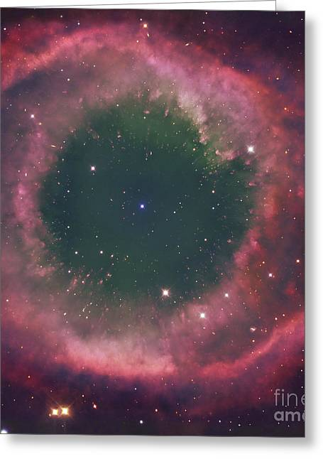 The Helix Nebula Greeting Card by Robert Gendler