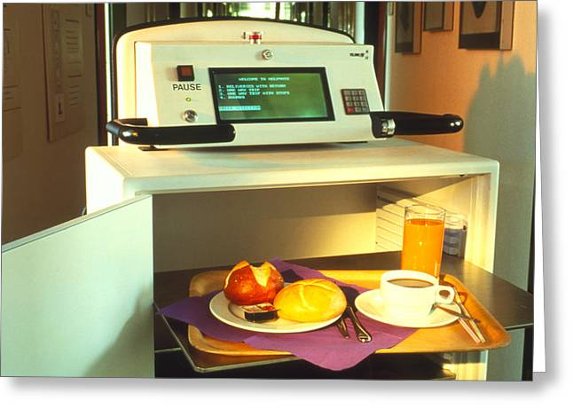 Food Delivery Greeting Cards - The Helpmate, A Robot Which Serves Hospital Food Greeting Card by Volker Steger