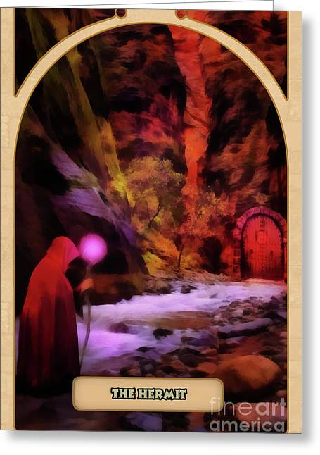 Teller Greeting Cards - The Hermit Greeting Card by John Edwards
