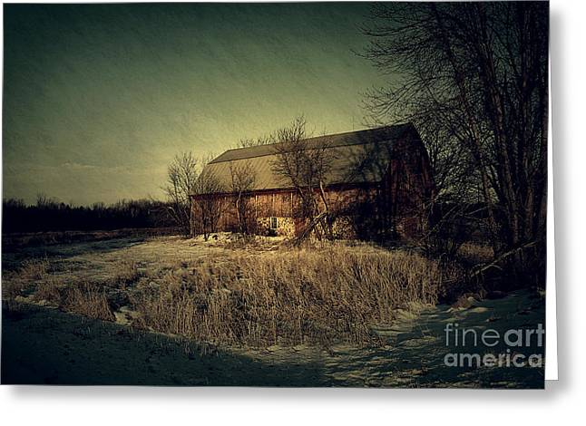 Wisconsin Barn Greeting Cards - The Hiding Barn Greeting Card by Joel Witmeyer