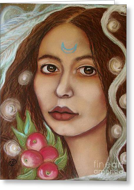 Morgan Le Fay Greeting Cards - The High Priestess Greeting Card by Tammy Mae Moon