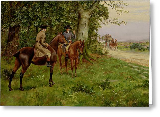 Robber Greeting Cards - The Highwaymen Greeting Card by George Derville Rowlandson