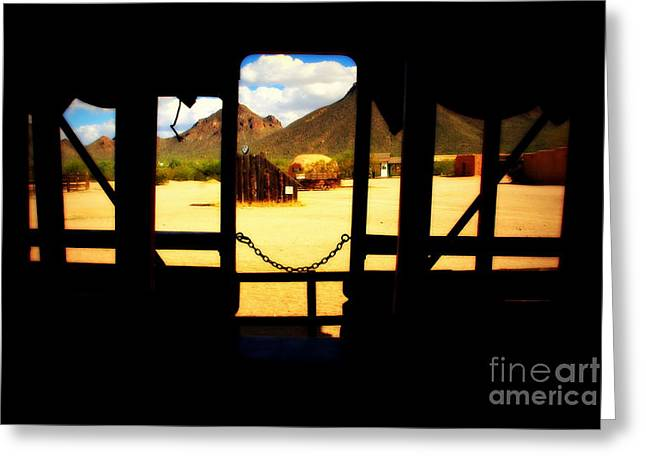 Architectural Greeting Cards - The Hills in Old Tuscon AZ Greeting Card by Susanne Van Hulst
