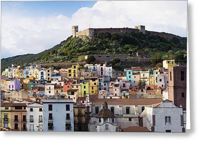 The Houses Greeting Cards - The Historic Coastal Town Of Cuglieri Greeting Card by Don Mason