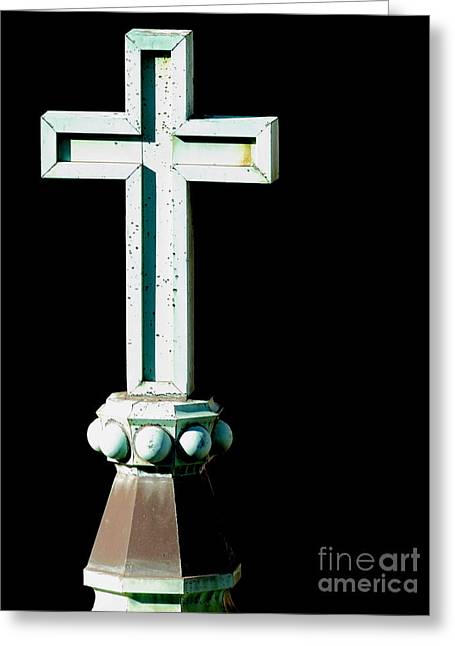 Holier Greeting Cards - The Holy Cross Greeting Card by Wingsdomain Art and Photography
