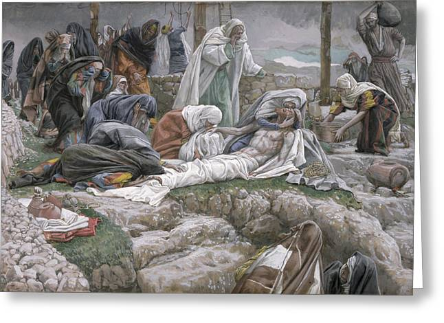 Take Greeting Cards - The Holy Virgin Receives the Body of Jesus Greeting Card by Tissot