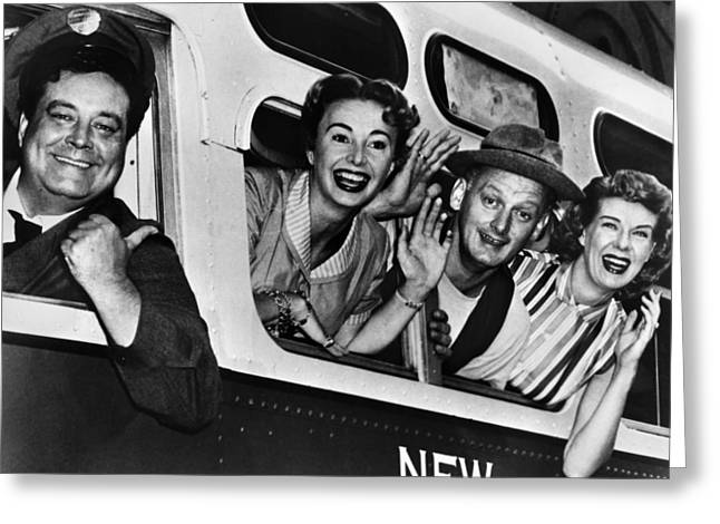 Smiling Photographs Greeting Cards - THE HONEYMOONERS, c1955 Greeting Card by Granger
