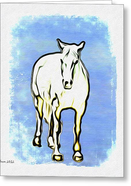 The Horse Greeting Card by Bill Cannon