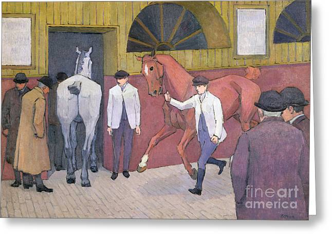 The Horse Mart  Greeting Card by Robert Polhill Bevan