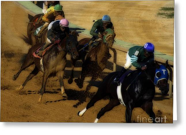 The Horse Race Greeting Card by Steven  Digman