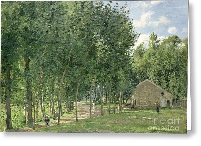 The House In The Forest Greeting Card by Camille Pissarro