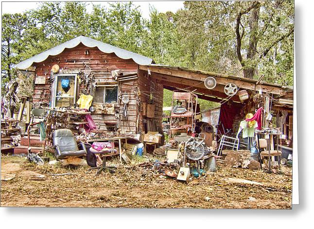 Hoarding Greeting Cards - The House of Used Goods Greeting Card by Douglas Barnard