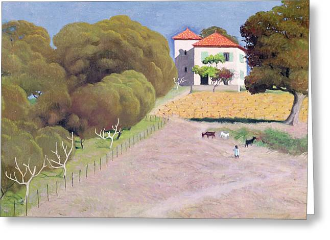 Vallotton Greeting Cards - The House with the Red Roof Greeting Card by Felix Edouard Vallotton