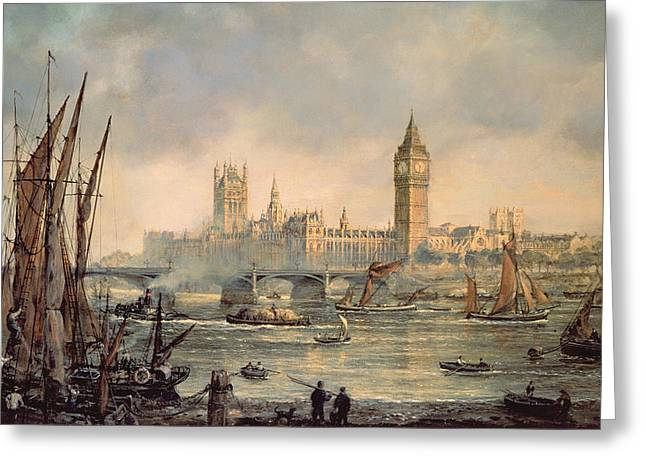 Urbam Greeting Cards - The Houses of Parliament and Westminster Bridge Greeting Card by Richard Willis