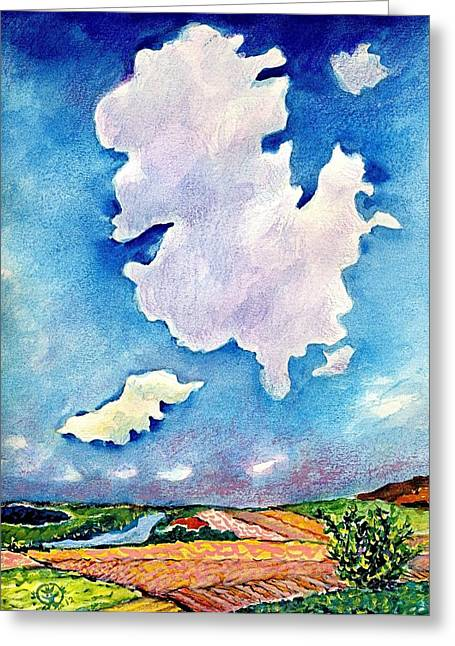 Ion Vincent Danu Greeting Cards - The Huge Cloud Greeting Card by Ion vincent DAnu