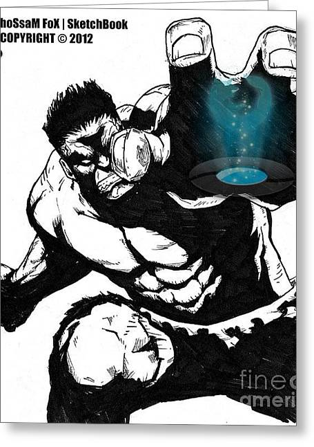 Sketchbook Greeting Cards - The Hulk Greeting Card by Hossam Fox