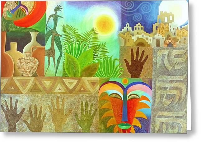 Spiritual Paintings Greeting Cards - The Human Touch Greeting Card by Jennifer Baird