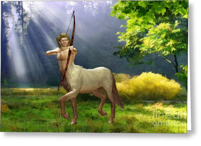 Archer Greeting Cards - The Hunter Greeting Card by John Edwards