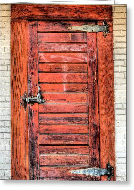 Olde Greeting Cards - The Ice House Door Greeting Card by JC Findley