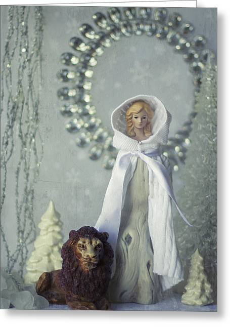 Witch Lion Wardrobe Greeting Cards - The Ice Queen Greeting Card by Heidi Thrasher