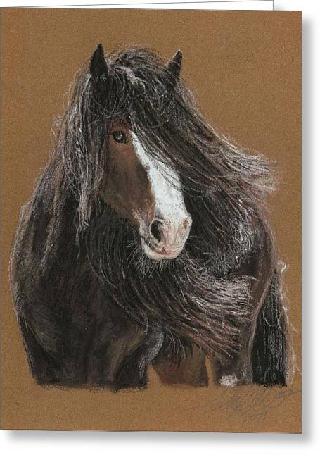 Stallion Pastels Greeting Cards - The Immortal Shire Greeting Card by Terry Kirkland Cook