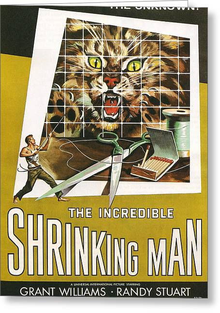 Flick Photographs Greeting Cards - The Incredible Shrinking Man Greeting Card by Nomad Art And  Design
