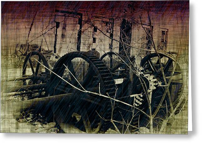 Cog Greeting Cards - The Industrial Revolution Greeting Card by Bill Cannon